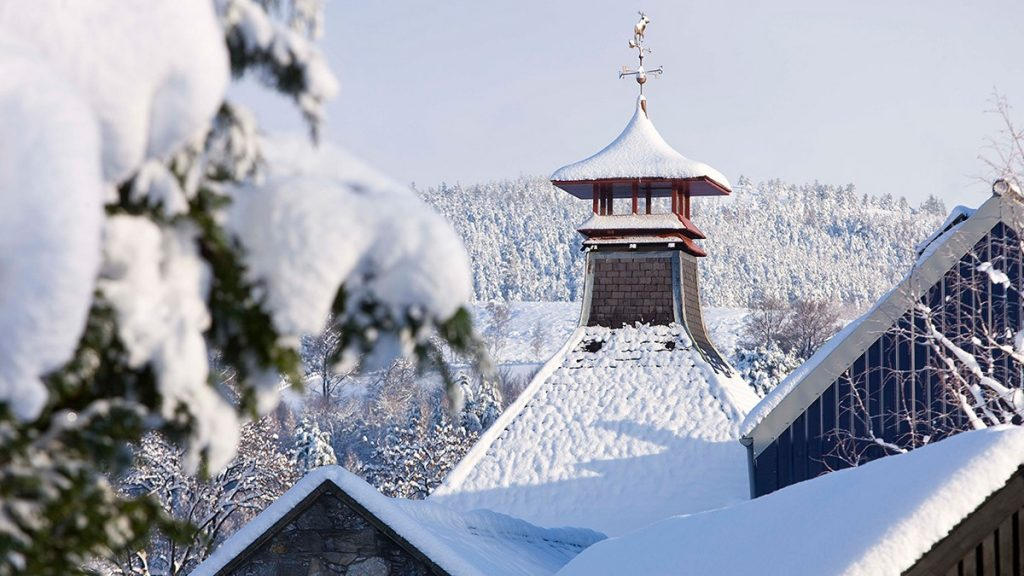 Distillery In The Snow